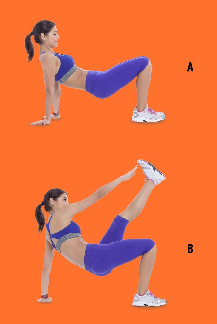 Exercitii pentru un posterior rotund: plank rasturnat